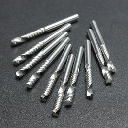 Cnc Tool End Australia - 10pcs lot 1 8 High Quality Cnc Bits Single Flute Spiral Router Carbide End Mill Cutter Tools 3.175 x 17mm (1Lx3.17)