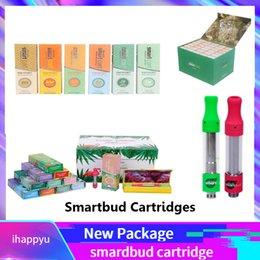 Опт 2019 Smartbud Картриджи для смарт-карт Экзотическое издание Магнитная коробка Розовый SmartCart 0.8 мл 1.0 мл Стеклянный резервуар 510 Керамическая катушка Густые масляные форсунки