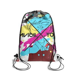 Strung Feathers Australia - Drawstring Sports Backpack avicii x you covervintage adjustable pull string Pull String Backpack