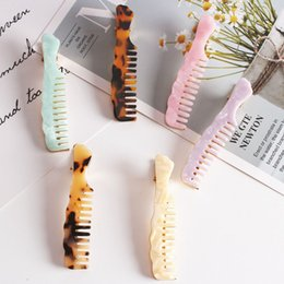 $enCountryForm.capitalKeyWord Australia - 1pc Punk Smooth Comb Shape Metal Hairpins Acetic Acid Gold Hair Clips for Girls Hair Accessories for Women Barrettes Bobby Pins