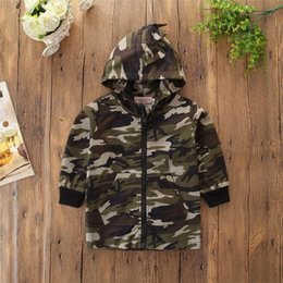 baby camouflage jackets Australia - Unisex Dinosaur Jacket Autumn Boys Girls 2020 New Children Thin Camouflage Hooded Baby Child Jacket Coat Boy Clothes