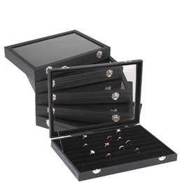 standing display cases NZ - Jewelry Ring Earring Bracelet Necklace Display Organizer Storage Case PU Box