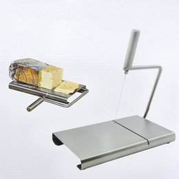 cheese boards UK - Cheese Butter Slicer Cutter Board Cutting Kitchen Hand Tool Stainless Steel Wire Cheese Slicer Cutting Cheese House Warmings
