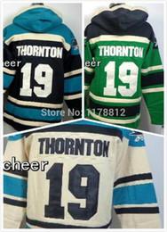 $enCountryForm.capitalKeyWord Australia - Factory Outlet, San Jose Sharks Sweatshirts #19 Joe THORNTON Hoodies old time Mens Stitched Authentic Hockey Hooded Drop Shipping