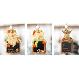 $enCountryForm.capitalKeyWord Australia - Colored Wood Mini Blackboard Christmas Pendant Creative Christmas Tree Wooden Ornament Decoration Small House