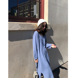 $enCountryForm.capitalKeyWord Australia - Love2019 Network Red With Basics Real Clothes Within Build V Lead Longslim Long Sleeve Knitting Dress Suit-dress
