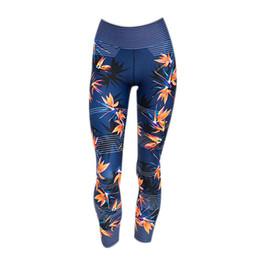 $enCountryForm.capitalKeyWord NZ - High Waist Yoga Pants Women'S Fitness Sport Leggings Stripe Printing Elastic Gym Workout Tights Running Trousers Plus Size