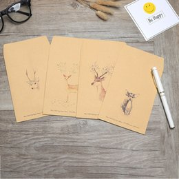 $enCountryForm.capitalKeyWord NZ - 10 pieces   set Large Postcard Letter Stationery writing Paper Kraft wedding Envelope Vintage Wallet Student School Office gift