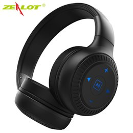 Iphone Stereo Mic Australia - New ZEALOT B20 Wireless Bluetooth Headphones with HD Sound Bass stereo On-Ear headphone with Mic Earphone for iPhone Samsung