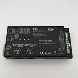 Freeshipping 1024 dots DMX512 to SPI Converter DSA DMX SPI singnal Decoder support WS2811 TM1804 TM1809 TM1812 driving IC for led dot light