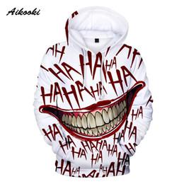 $enCountryForm.capitalKeyWord Australia - Aikooki HAHA Joker Hoodies Men Women Halloween Crazy Smile Winter Hoodies Mens Suicide squad Joker Sweatshirt Pullover Tracksuit