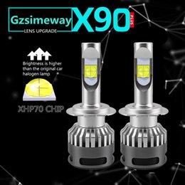 Fog lamps bulb h1 online shopping - 2PCS Car led H1 H4 H7 H8 H11 HB3 H16 Headlight Bulbs D2S D2H D1S Headlights XHP70 W k Led Lamp fog light V