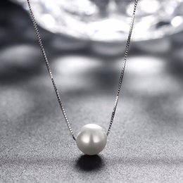 925 Silver Pearls Necklace Australia - INALIS Simple Ladies Jewelry 925 Sterling Silver Necklace White Shell Pearl Pendant Necklaces Fashion Gift Accessories