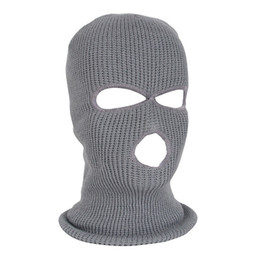 Discount army masks - NEW Full Face Mask Ski Mask Winter facemask Cap Balaclava Hood Army Tactical 3 Hole cycling winter #4n26