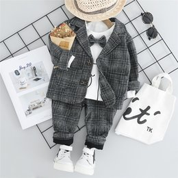 $enCountryForm.capitalKeyWord Australia - HYLKIDHUOSE 2019 Baby Boy Clothing Sets Male Children Clothes Suits Gentleman Style Coats T Shirt Pants Toddler Infant ClothesMX190916