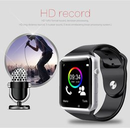 Bluetooth Smart Watch Sim Australia - Hot sell A1 Smart watch Bluetooth Smartwatch SIM card for IOS iPhone Samsung Android Phone Intelligent Clock Sports Watches Free DHL