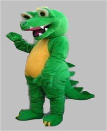 dragon making UK - GREEN DINOSAUR DRAGON MASCOT COSTUME ADULT SIZE CARTOON