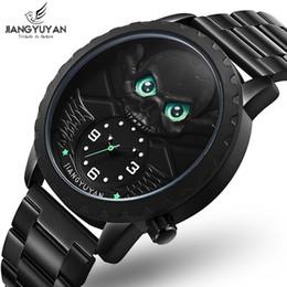 1a6906c8d27a 3D Cráneo verde relojes únicos hombres Moda Casual Deportes Hombres Reloj  de acero negro para hombre relojes de primeras marcas de lujo relogio  masculino