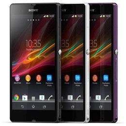 purple cellphone Australia - Refurbished Original Sony Z C6603 5.0 inch Quad Core 2GB RAM 16GB ROM 13.1MP Camera Android 4G LTE Smart Mobile Phone Free DHL 1pcs
