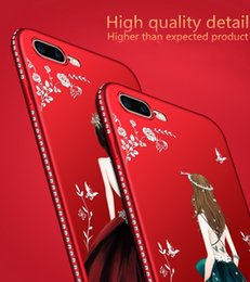Wholesale Goddess Soft Scrub Rhinestone Phone Cases For IPhone XR XS MAX S Plus High Quality Newest Arrival Cellphone Shell Case