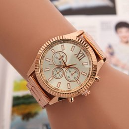 Michael Glasses Australia - Fashion Watches michael Quartz Watch Casual Full Steel Dial Style woman All over kor sky stars kCrystal Diamond Rome Word Dial Style Watches
