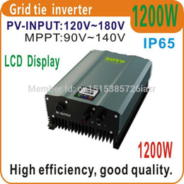 solar inverter grid NZ - Freeshipping 1200W Grid Tie Inverter PV-Voc input 120-180v Solar Inverter AC230V 50HZ or 60Hz Home Solar Systems