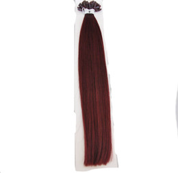 european straight human hair extensions UK - Promotion Double Drawn 200Gram Indian Straight Human Hair Keratin Hair Extensions Nail U Tip Hair 16''18''20''22'' 24''