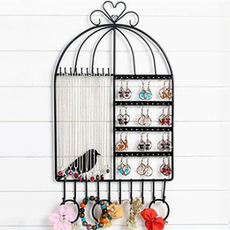 $enCountryForm.capitalKeyWord Australia - Wall-Mounted Birdcage Jewelry Storage Holder Necklace Organizer Vintage Inspired Display Stand For Hanging Bracelet Ring