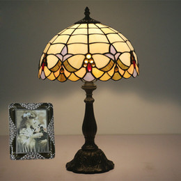 $enCountryForm.capitalKeyWord NZ - Vintage Stained Glass Lampshade Table Lamp Tiffany Style Table Lamp For Bedroom Table Light E27 Bureaulamp Study Living Room Cafe Desk Lamp