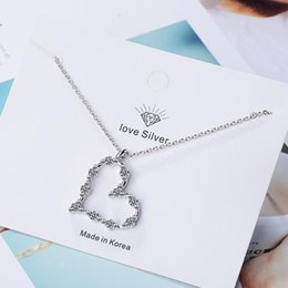 $enCountryForm.capitalKeyWord Australia - MEEKCAT New Trendy 925 Silver Necklaces For Women Jewelry Exquisite Zircon Hollow Love Heart Torque Necklace Female Accessories