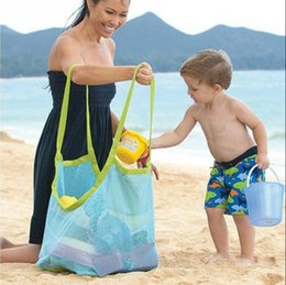 Big Toys Women Australia - Lightweight Mesh Bag Big Capability Women Messerger Bags Toy Tool Storage Collection Pouch Tote Mom Kids Baby Beach Bag #913