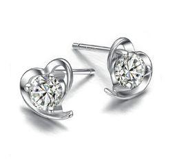 $enCountryForm.capitalKeyWord Australia - Zirconia Stud Earring Hearted Stud Earrings, Hypoallergenic Cubic Zirconia Ear Studs for Women