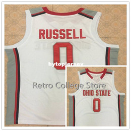 basketball jersey size 4xl NZ - Ohio State Buckeyes #0 D'Angelo Russell Retro Basketball Jersey All Size Embroidery Stitched Customize any name and name XS-6XL vest Jerseys