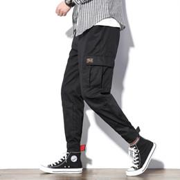$enCountryForm.capitalKeyWord UK - Japanese Streetwear Cargo Pants Style Men Fashions Trousers Elastic Waist Big Size 5XL Summer Pants Men XXXXL