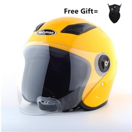 Motorcycle Helmets Yellow Color Australia - Helmet motorcycle open face capacete para motocicleta cascos para moto racing NUOMAN motorcycle vintage helmets yellow color