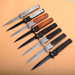 Knife Black Coating Australia - Assisted Fast Open Flipper Folding Knife 440C Black Titanium Coated Blade EDC Pocket Knives Gift Knife