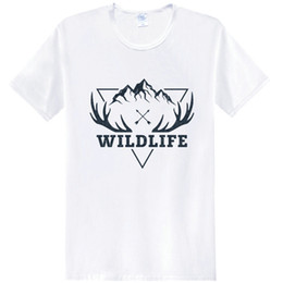 $enCountryForm.capitalKeyWord Australia - Reindeer t shirt Wild life short sleeve tees Mountain road deer tops Unisex singlet Colorfast clothing Elastic modal tshirt