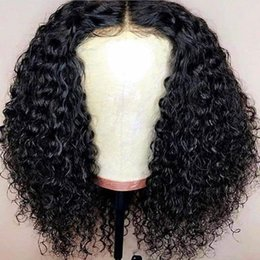 $enCountryForm.capitalKeyWord Australia - Hot Selling! Lace Front Bob Wigs Brazilian Curly Short Full Lace Wig Side Part Glueless Lace Front Wig for Women