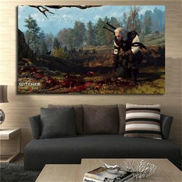 $enCountryForm.capitalKeyWord Australia - The Witcher 3 Wild Hunt Tracking Canvas Painting Living Room Home Decor Modern Wall Art Painting Poster Picture For Living Room Accessories