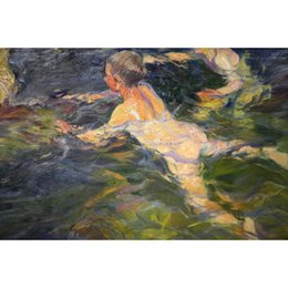 Hand Painting Beach Australia - Beach artwork by Joaquin Sorolla y Bastida paintings Swimmers hand painted High quality