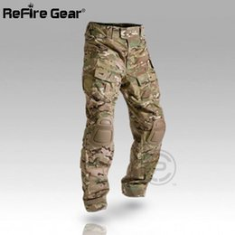 $enCountryForm.capitalKeyWord UK - Multicam Camouflage Militar Tactical Pants Army Military Uniform Trouser ACU Airsoft Paintball Combat Cargo Pants With Knee Pads 174