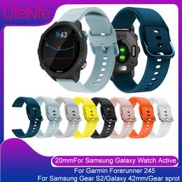 $enCountryForm.capitalKeyWord Australia - 20mm strap For Samsung Galaxy Watch Active Gear S2 Galaxy 42mm smart watch replacemet bracelet For Garmin Forerunner 245 band