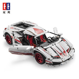 unassembled rc kits 2019 - SY RC Car Building Blocks, Lamborghini LP610 Super Sports Car, DIY Developmental Toy, for Party Kid' Birthday Chris