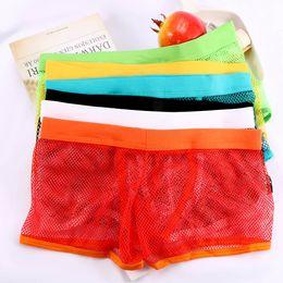 53009ff59df8 Hot Selling Men Underwear Transparent Net Mesh Bikini Briefs Underwear  Bulge Underpants Fashion Waist Brief Sexy Lingerie Gift