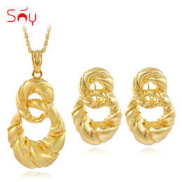 $enCountryForm.capitalKeyWord NZ - sets women Sunny Alloy Bowknot Twisted Fashion 2019 Jewelry Sets Women Necklace Earrings Pendant For Party Daily Wear