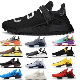 Cheap laCe up sandals online shopping - cheap new Hu Trail Clouds Mood best quality Real Men women Pharrell Williams fashion luxury mens women designer sandals shoes A01