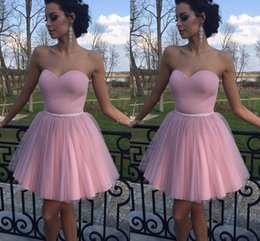 Short white formal gownS online shopping - Elegant Short Homecoming Dresses Strapless Mini Special Occasion Dresses Formal Party Prom Gowns Cheap Cocktail Gown Vestidos De Fiesta