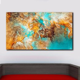 $enCountryForm.capitalKeyWord Australia - 1 Piece Fashion Printed Abstract Painting Oil Painting Wall Pictures For Living Room Home Decor Colorful Atmosphere Canvas Art No Framed