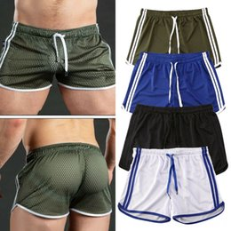 gym apparel UK - 2020 Summer Running Outdoor Wear Athletic & Outdoor Apparel Shorts Sports Jogging Fitness Shorts Quick Dry Men Gym Men Fitness Soccer Sport