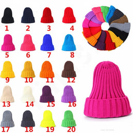 $enCountryForm.capitalKeyWord Australia - Women's Knitted Cap Autumn Winter Men Cotton Warm Hat Skullies Brand Heavy Hair Twist Beanies Solid Color Wool Hats 20 Styles 200pcs T1I1140